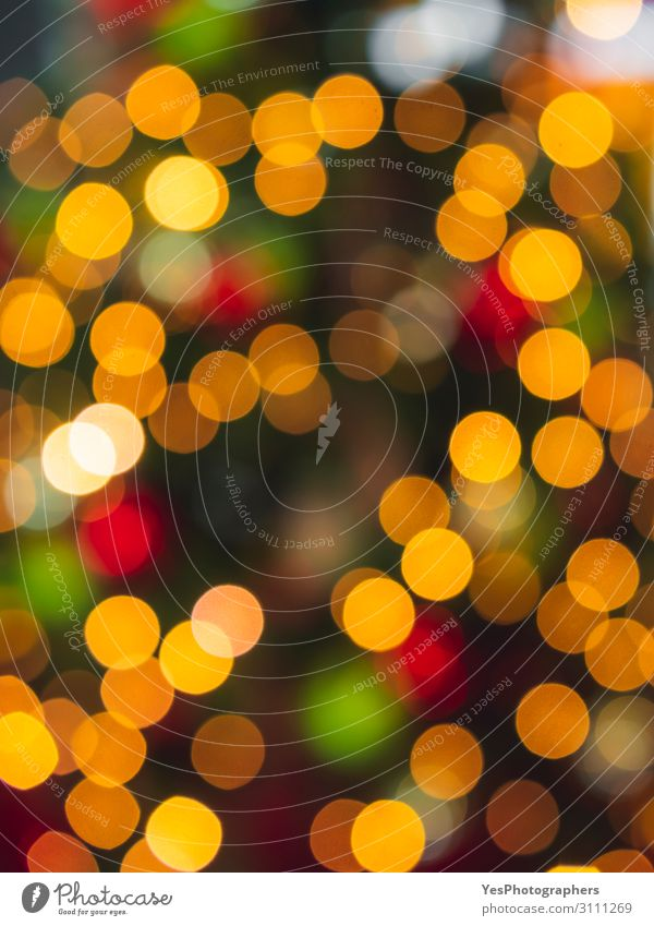 Multicolor Christmas bokeh lights. Xmas colorful background Happy Decoration Feasts & Celebrations Christmas & Advent New Year's Eve Bright Yellow Green Red