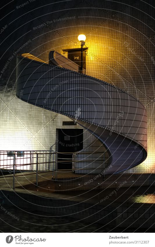 spiral staircase Art Museum Hongkong Kowloon Town Downtown Deserted Manmade structures Architecture Stairs Facade Tourist Attraction Cultural center Esthetic
