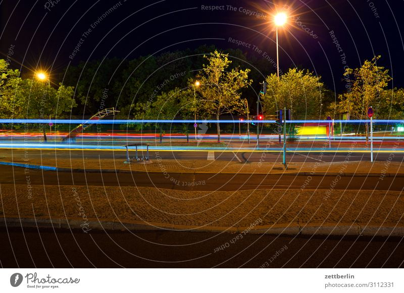 through traffic Evening Movement blink Multicoloured Dark Dynamics Fantasy Glittering Airport Art Light Visual spectacle Light painting Light show Line