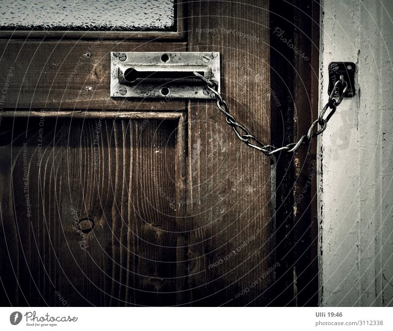 Just close. Flat (apartment) Room locking Window Door Wood Glass Lock Living or residing Old Authentic Dark Historic Cold Retro Brown Gray Safety (feeling of)
