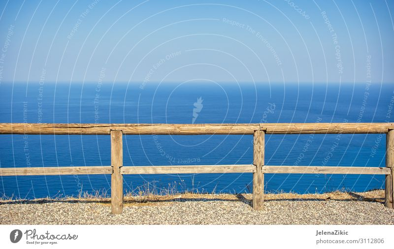 Endless view of the Ionian sea Sky Vacation & Travel Nature Summer Blue Colour Landscape Ocean Beach Wood Environment Coast Tourism Freedom Above Bright