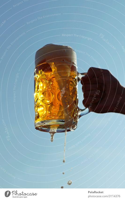Art Esthetic Beer Alcoholic drinks Foam Oktoberfest October Toast Beer mug Beer garden Beer glass Beer tent Froth Beer table