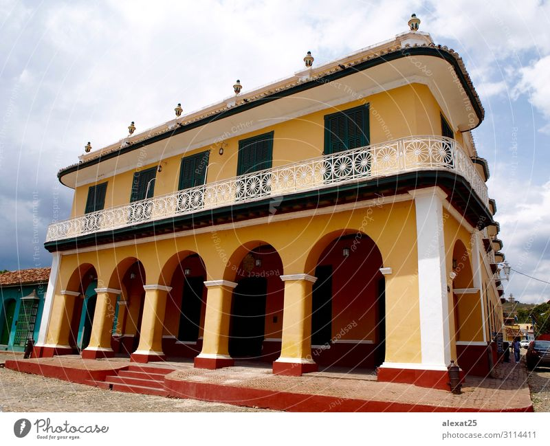 Palacio Brunet in Trinidad - Cuba Beautiful Vacation & Travel Tourism House (Residential Structure) Town Palace Building Architecture Street Old Retro Tradition