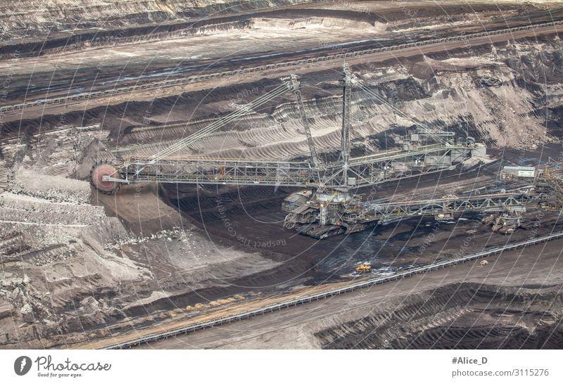 coal mining Landscape Germany RWE Power Industry Energy industry Coal power station Energy crisis Environment Climate change Excavator Creepy