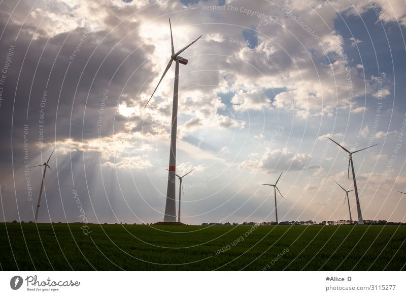 wind turbines german RWE power energy Technology Energy industry Renewable energy Wind energy plant Industry Environment Landscape Innovative Problem solving
