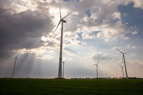 wind turbines german RWE power energy Technology Energy industry Renewable energy Wind energy plant Industry Environment Landscape Innovative Problem solving