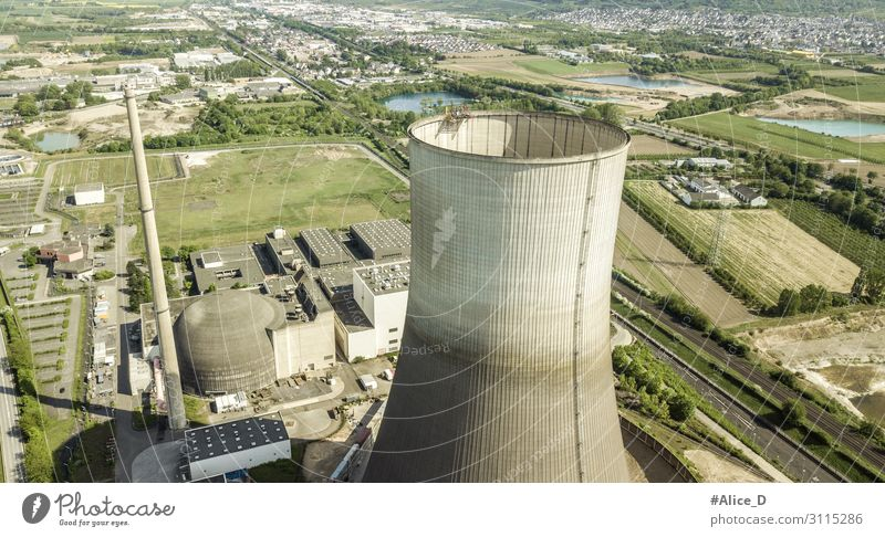 Decommissioned nuclear power plans Muelheim-Kaerlich Germany Energy industry Industry Environment Ice Frost Industrial plant Factory Tower Nuclear Power Plant