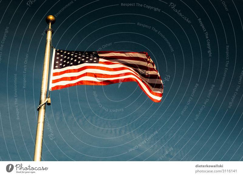 flag Flag Might Arrogant Pride Culture Americas American flag Real estate Patriotism Colour photo Deserted Day
