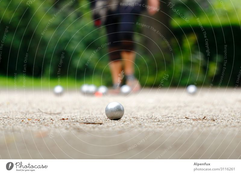 A sure instinct for the job, that's an advantage. Sports Boules Playing Optimism Success Contentment Movement Business Relaxation Expectation Fitness Joy