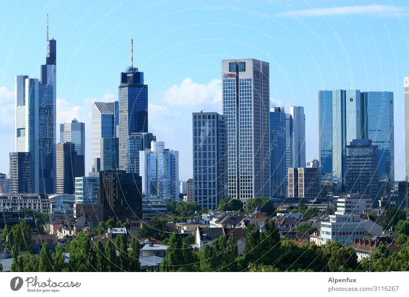Bankfurt Central Park Frankfurt Town Downtown Outskirts High-rise Bank building Business Energy Relaxation Expectation Financial Industry Advancement Society