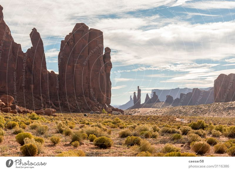 Surreal Landscape of Monument Valley, Utah/Arizona/USA Vacation & Travel Tourism Trip Adventure Far-off places Freedom Sightseeing Nature Earth Sand Warmth