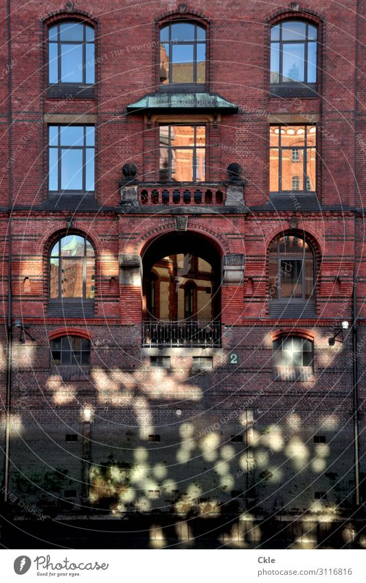Blue Town Green Water Red House (Residential Structure) Window Architecture Wall (building) Building Germany Wall (barrier) Brown Facade Trip Decoration