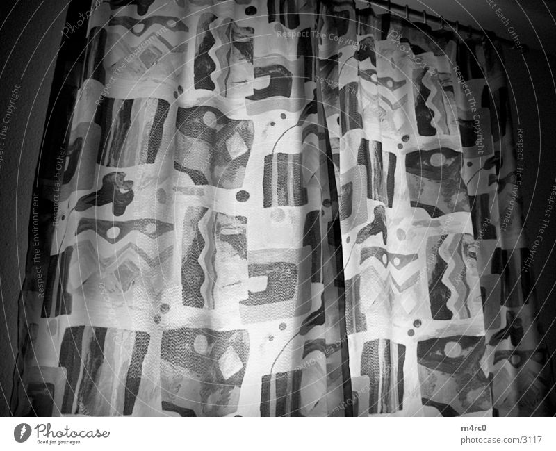 curtain Drape Cloth Photographic technology Black & white photo Lights.