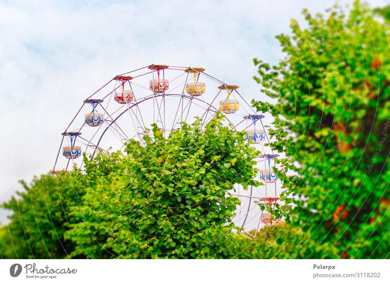 Amusement park with a ferris wheel Lifestyle Joy Relaxation Leisure and hobbies Playing Vacation & Travel Trip Summer Entertainment Infancy Sky Park Flying