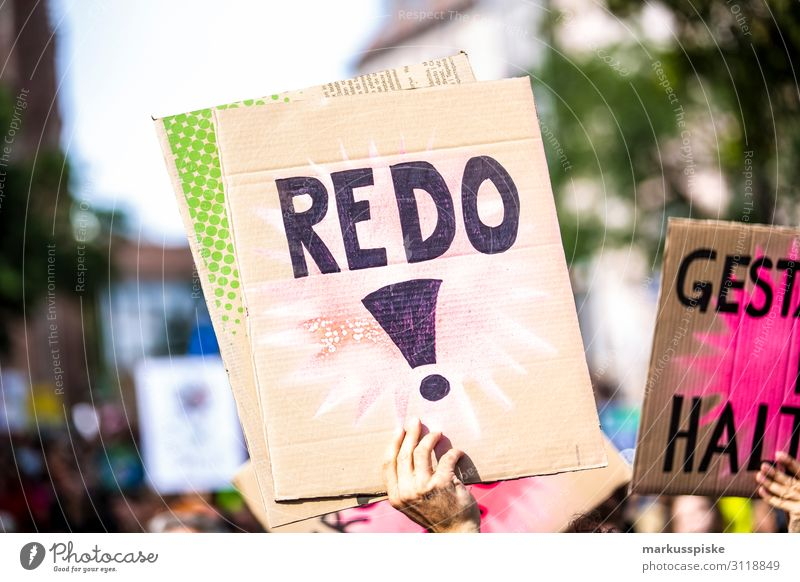 REDO! Child University & College student Disaster Peace Global Climate Mobilisation Global Climate Strike activist appeal atmosphere Background picture blue