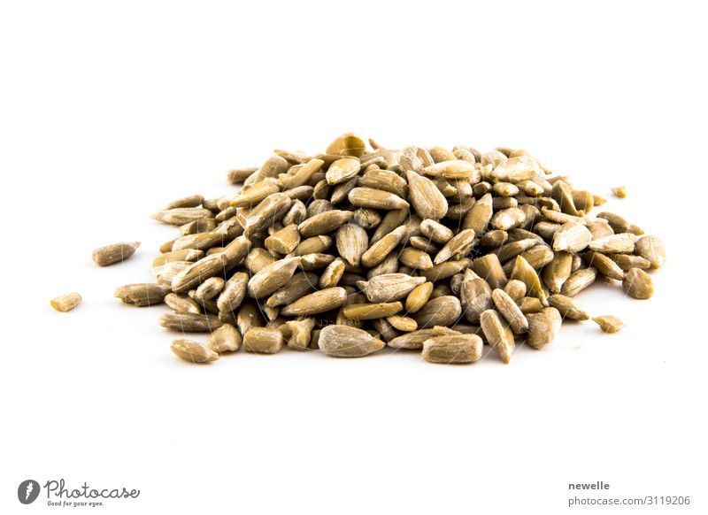 Sunflower seed isolated on white background photo. Nutrition Vegetarian diet Diet Wallpaper Group Nature Plant Small Natural White seeds food healthy Raw