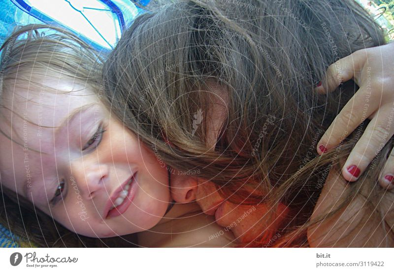 Woman Child Human being Youth (Young adults) Young woman Adults Feminine Family & Relations Happy Together Infancy Happiness Joie de vivre (Vitality) Mother