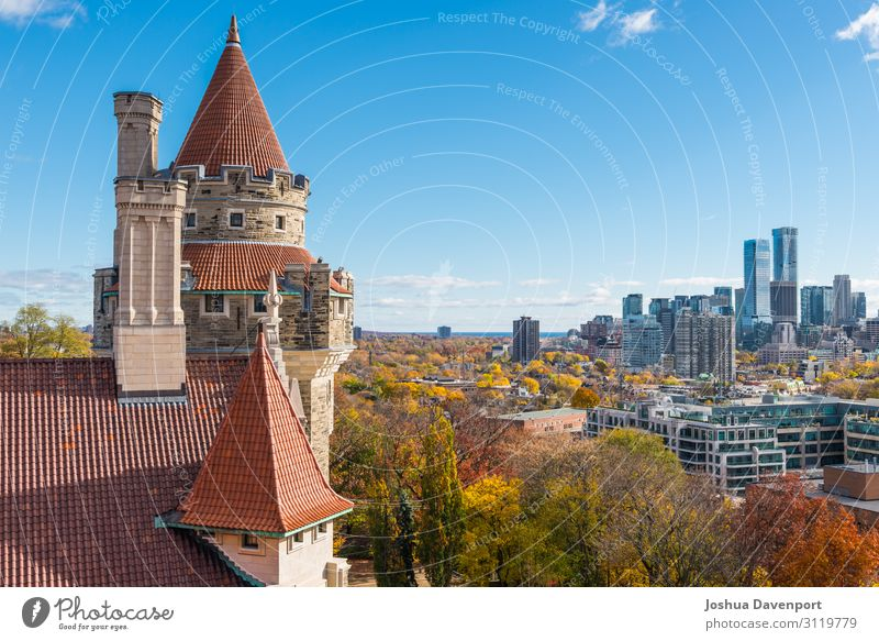 Casa Loma Vacation & Travel Tourism Sightseeing Autumn Skyline Castle Building Tourist Attraction Landmark Old Beautiful autumn colors autumn in canada Canada
