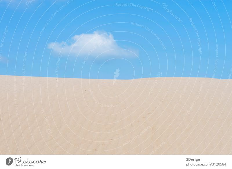 Lonely cloud over a dessert dune against blue sky Vacation & Travel Adventure Freedom Sun Woman Adults Man Nature Landscape Sand Sky Clouds Warmth Hill Wild