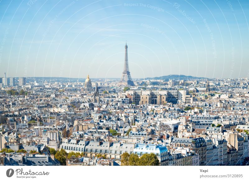 Paris cityscape with Eilffel tower Beautiful Wellness Leisure and hobbies Vacation & Travel Tourism Trip Adventure Far-off places Freedom Sightseeing City trip