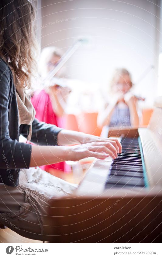 Together Music Keyboard Piano Musician Violin Classical Make music Play piano Music tuition Piano lessons Classical concert