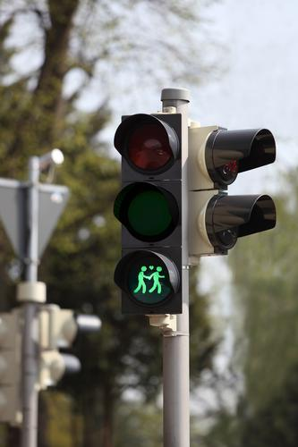 traffic light symbol for homosexuals Sign Green Attentive Watchfulness Traffic light Symbols and metaphors Homosexual Couple Homosexual man Colour photo