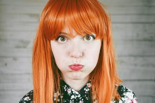 Portrait of a upset young redhead woman Woman Human being White Face Adults Natural Sadness Feminine Emotions Hair and hairstyles Skin Authentic Cute