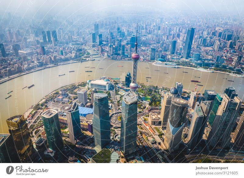 Shanghai Cityscape Vacation & Travel Tourism Sightseeing River Town Downtown Manmade structures Building Architecture Tourist Attraction Landmark Modern China