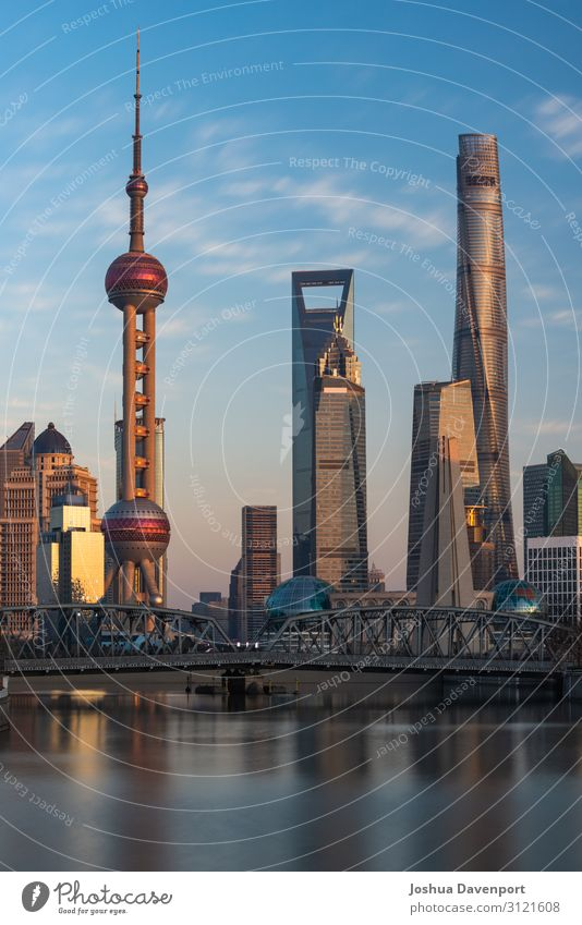 Shanghai Skyline Vacation & Travel Tourism Sightseeing City trip High-rise Manmade structures Architecture Tourist Attraction Landmark Town Asia asia travel
