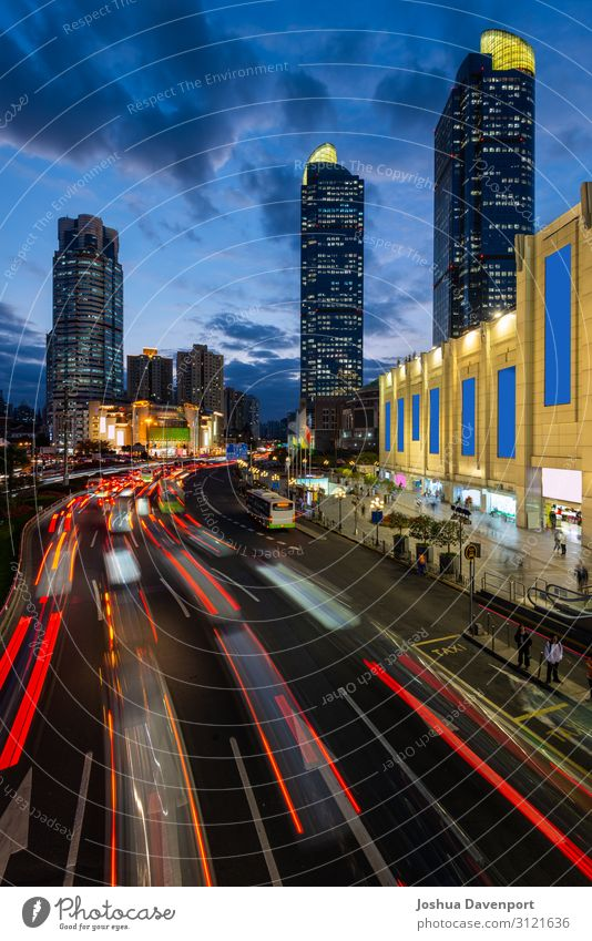 Xujiahui Station Vacation & Travel Tourism Sightseeing Town Downtown Skyline Populated High-rise Movement China city architecture City life city lights