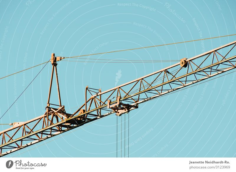 crane boom House (Residential Structure) House building Profession Craftsperson Workplace Construction site Industry Craft (trade) Energy industry Machinery