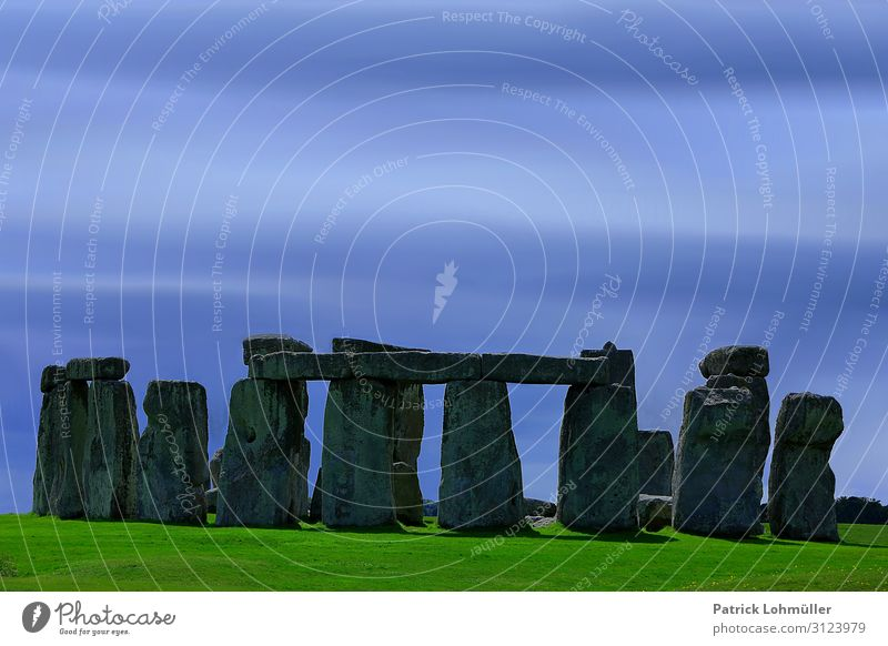 Stonehenge Tourism Trip Sightseeing Environment Nature Landscape Sky Beautiful weather Meadow Salisbury England Great Britain Europe Tourist Attraction Landmark