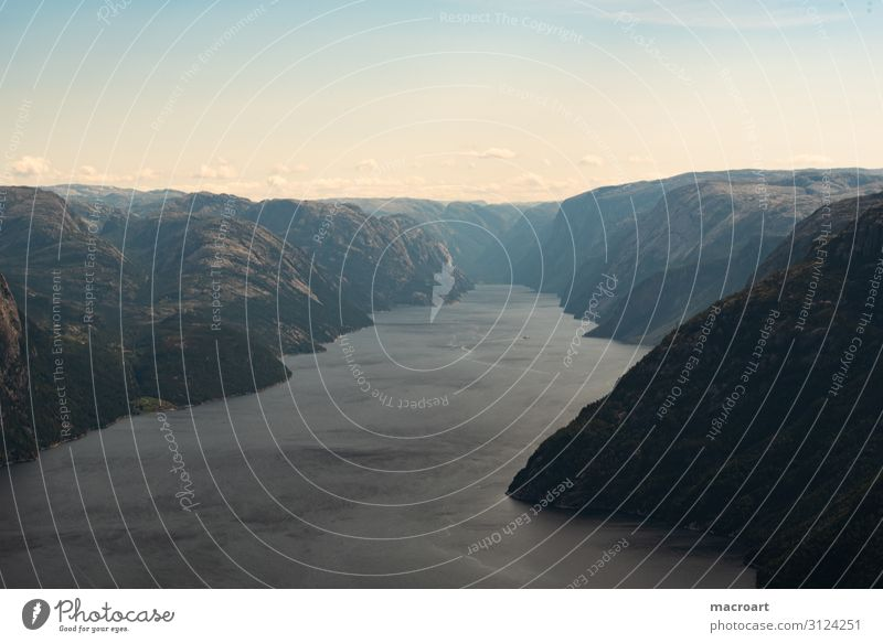 Norway Landscape Photography Panorama (View) Wide angle Fjord Lake Fjeld lake landscape Norwegian Scandinavia Poster Canvas Panorama (Format) Clouds Summer