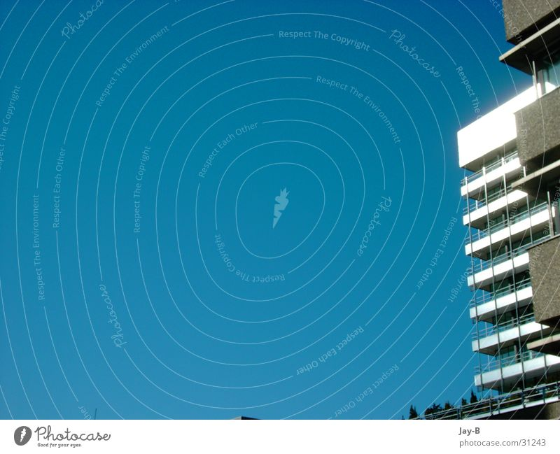 blue sky High-rise Sky House (Residential Structure) Prefab construction Concrete Blue Sun
