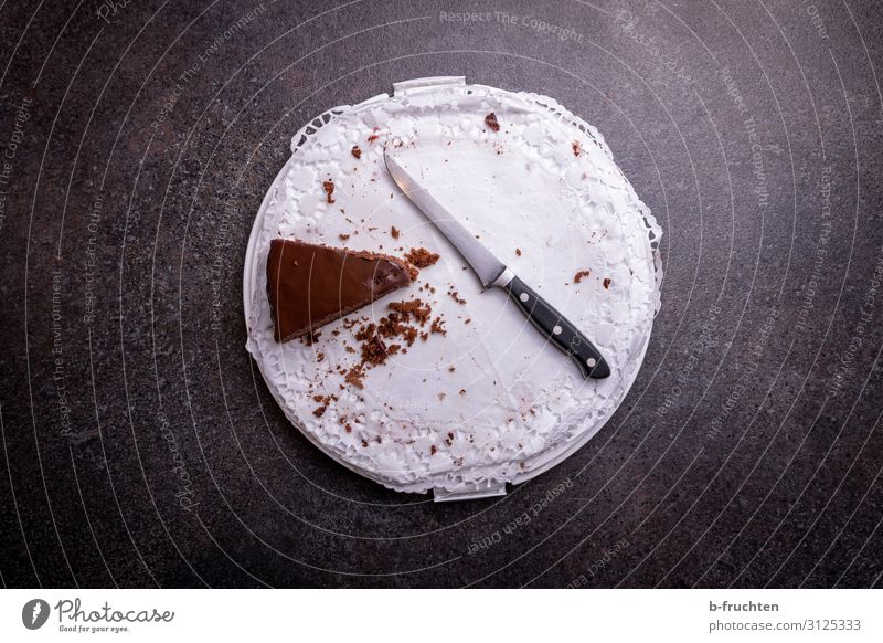 the last piece of the pie Food Cake Dessert Chocolate Nutrition To have a coffee Buffet Brunch Banquet Plate Knives Eating Feasts & Celebrations Select To enjoy