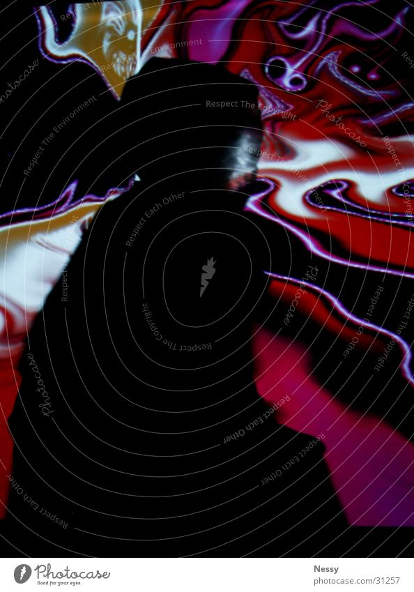 Red Black Emotions Movement Wild animal Ghosts & Spectres  Mystic Eerie Cape Witch Magenta Smear Suction Data projector