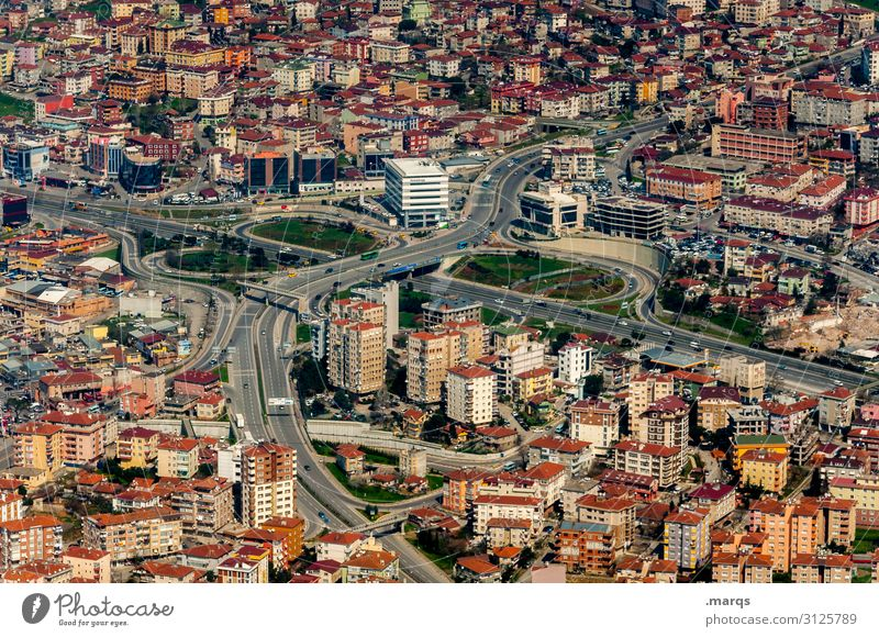 Istanbul Panorama (View) Bird's-eye view Building Downtown Town Vacation & Travel Tourism City trip Architecture Near and Middle East downtown Street
