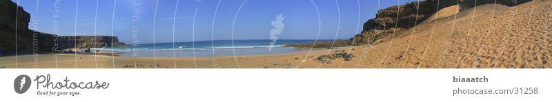 playa de esquinzo Canaries Waves Fuerteventura Beach Ocean Europe mare panaroma canary islands water Bay
