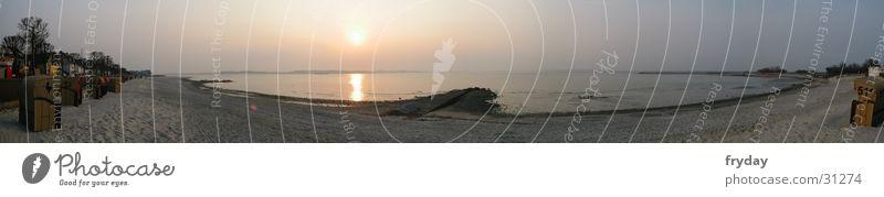 Beach Large Europe Baltic Sea Beach chair Panorama (Format) Kiel Schleswig-Holstein Laboe Kieler Förde