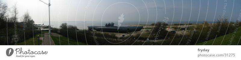 Laboe submarine Panorama (View) Wide angle Kieler Förde Monument Submarine Europe Baltic Sea U 995 Large Panorama (Format)