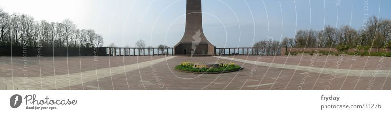 Laboe Marine Memorial Panorama (View) Wide angle Navy Monument Seaman Europe Large Panorama (Format)