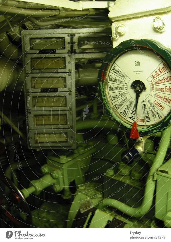 U-boat Offal Submarine Speed 1945 Electrical equipment Technology U 995 Collateralization creep speed Display