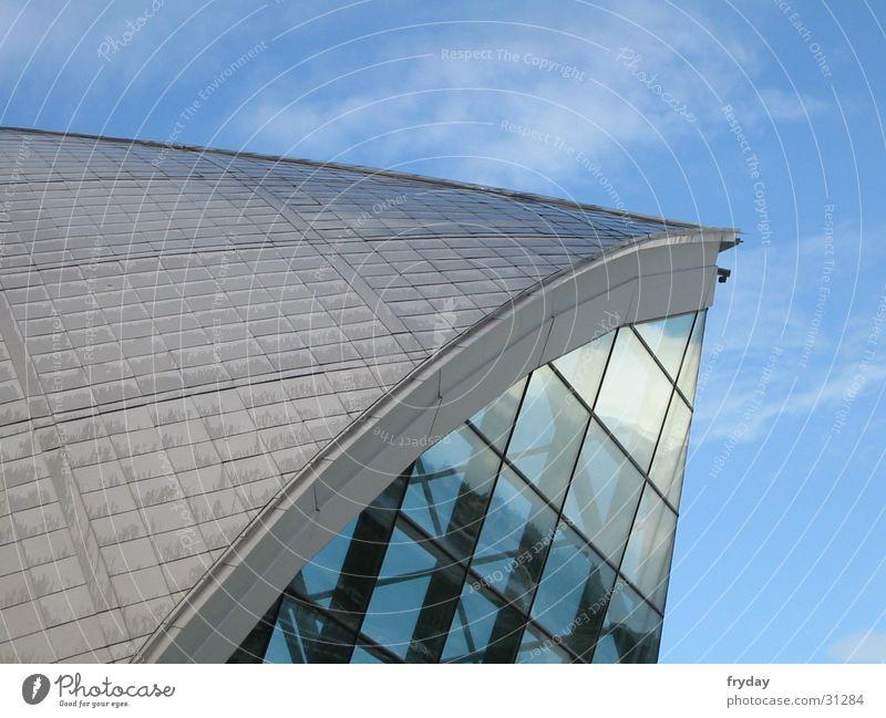 Sky Clouds Building Metal Architecture Glass Steel Scotland Glasgow