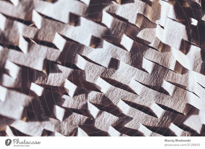 Abstract background made of perforated brown paper. Wallpaper Paper Piece of paper Retro Time Effect undulated spatial Consistency Illustration filtered