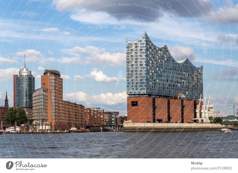 Human being Sky Vacation & Travel Summer Town Clouds Architecture Building Germany Tourism Exceptional Europe High-rise Esthetic Beautiful weather Hamburg
