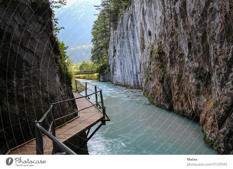 The Geisterschlucht or Leutascher Ghost Gorge, Germany Adventure Alps Austria Bavaria Bridge Canyon Cliff Ecological Environment Europe Footpath