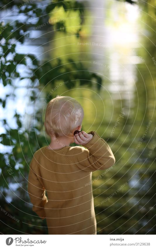 Child Human being Nature Joy Forest Life Environment Family & Relations Boy (child) Garden Playing Freedom Lake Leisure and hobbies Park Blonde