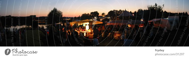 Sea park ahoy Wide angle Panorama (View) Lake Tree Freiburg im Breisgau Feasts & Celebrations Music festival Human being sunset Large Panorama (Format)