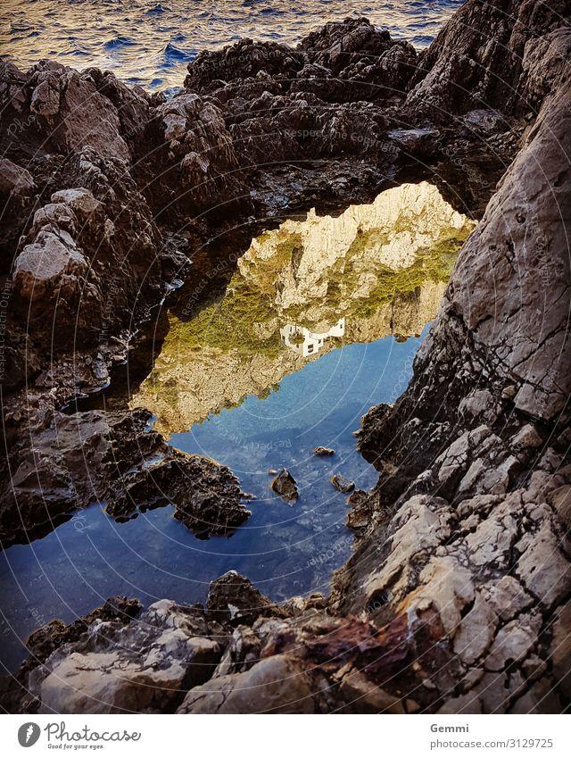 sea of mirrors Contentment Relaxation Ocean Island Waves Nature Landscape Water Autumn Beautiful weather Rock Coast Bay Capri Ledge Dream house Stone Maritime