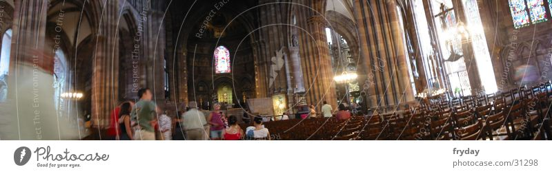 Human being Room Religion and faith Large Panorama (Format) House of worship Strasbourg Altar